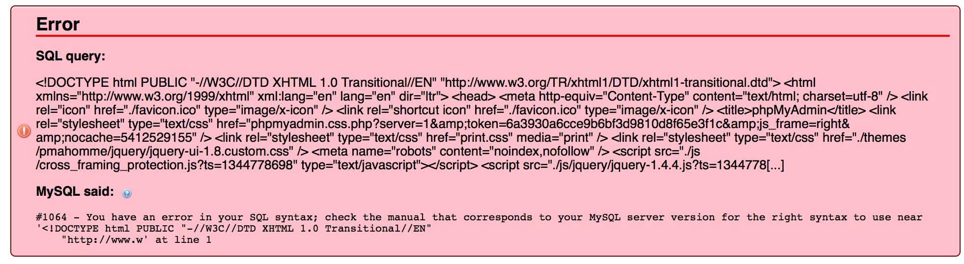 wordpress database import error mysql version mismatch