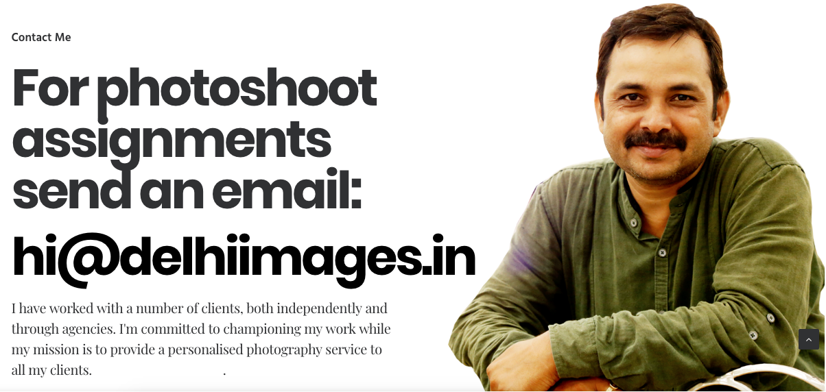 DelhiImages.in Photography Website Design Contact me
